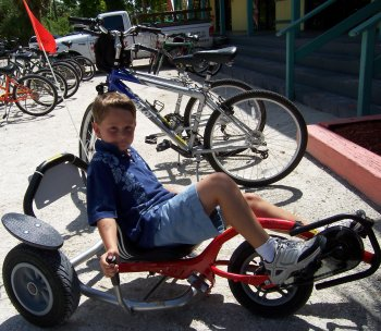The balance bike at Finnimore's Bike Rentals, Sanibel Island Florida