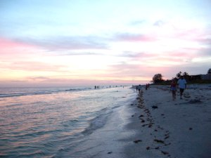 Sanibel beach sunset