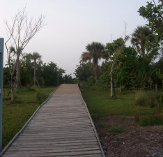 Sanibel Gulfside Park boardwalk to the beach